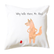 Hello Mr. Bird Cushion Cover