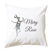 Personalized Dancing Hare Cushion Cover